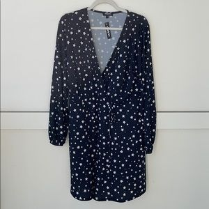 New Simply Be Black and White Star Dress